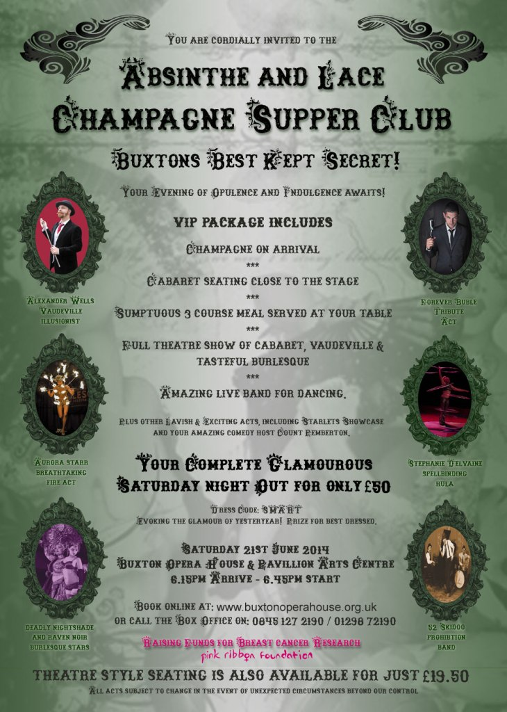 A3 Absinthe and Lace Champagne Supper Club 21 June 2014