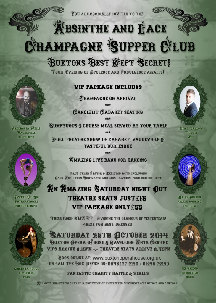 Absinthe and Lace Champagne October 25th Supper Club